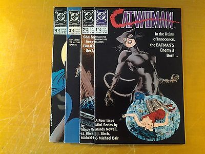 (1989) DC COMICS CATWOMAN SET #1-4 BATMAN MINI-SERIES HTF COMBINED SHIPPING