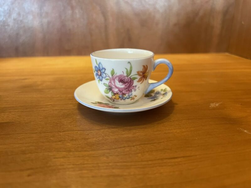 Shelley Miniature Cup Saucer / 13424 Pattern / Floral