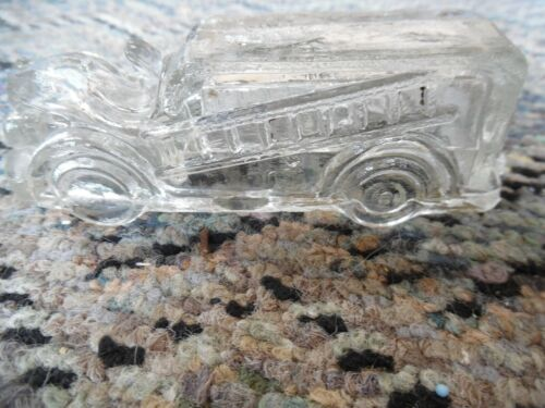 Vintage Victory Glass Firetruck decoration
