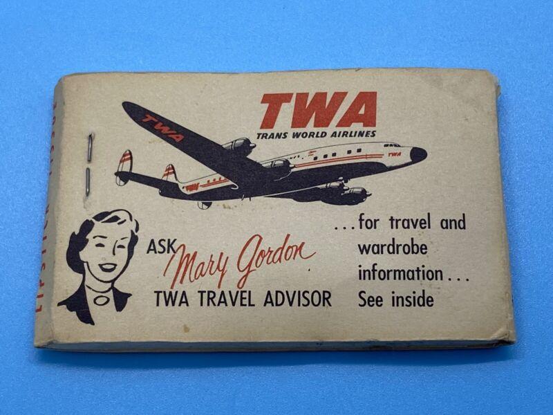 Vintage Rare TWA Trans World Airlines Travel Lipstick Tissue Packet Unused s9