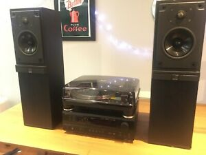 Denon Amp with Audio Technica Turntable and Mordaunt Short Speakers