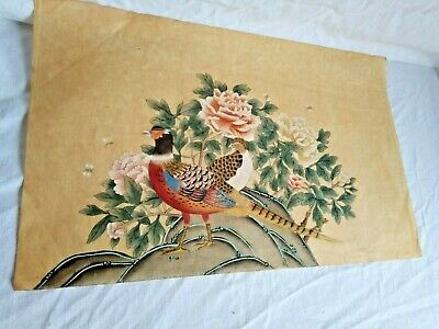 Antique Gouache Chinese on paper Rice Paper