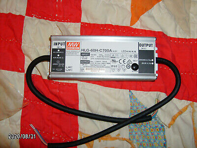 Mean Well Power Supply Led Driver Hlg-60h-c700a 50-100 Vout 700ma 70w