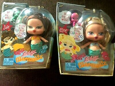 Bratz lot of two Jade and Cloe Babyz Mermaids. The hair and Tail changes Color o
