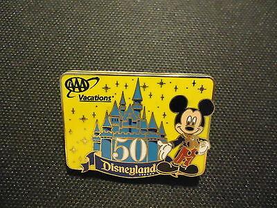 Disney 2005 Aaa Travel Disneyland 50Th Anniversary Mickey Mouse Pin