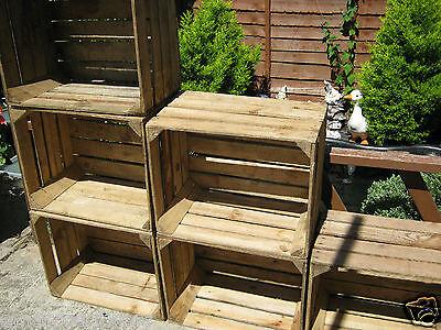 6 Wooden Crates Fruit Apple - Boxes Vintage Home Decor  Vintage Style