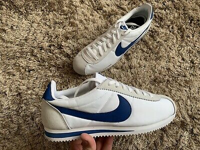 Nike Cortez Nylon, 807472-102, UK 9 , EU 44, US 10, Gym White Blue 🔥