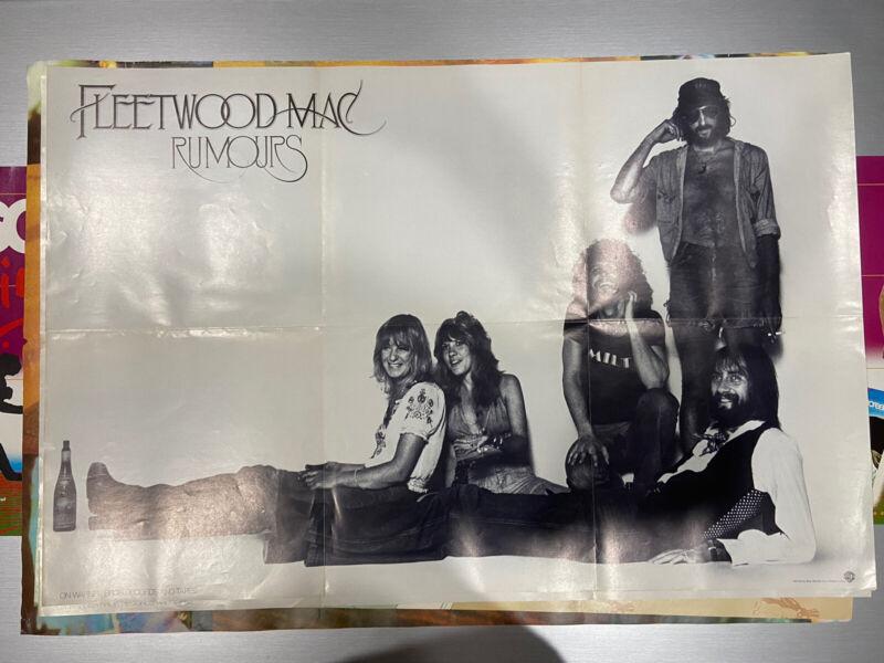 Fleetwood Mac PROMO poster Rumours 1977 Warner bros Records VG Stevie Nicks