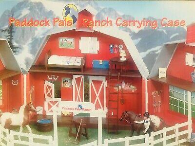 BREYER Stablemate Barn set + extras (3 horses) 99.9% complete Vintage 1996