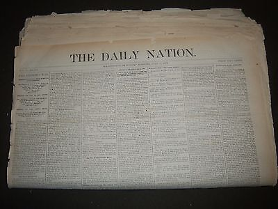 1877 The Daily Nation Newspaper Lot Of 66 Issues   Washington D C    Np 2363