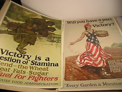 4 WW 1 Time/Life 1964 Repro Prints War Garden, Uncle Sam, Victory Liberty +