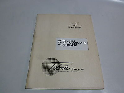 Telonic 3301 Sweep Oscillator Plug In Unit Operation Service Manual R3-s35