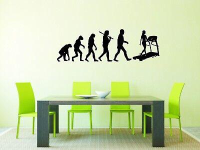 Wandtattoo: Evolution Laufband, Fitness, Training, Sport //Größen- u. Farbwahl