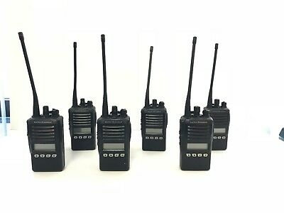Used Vertex Standard Vx-354-g7 Uhf Portable Two-way Radios Six Radio Bundle