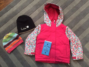 2T Roxy winter coat with touques