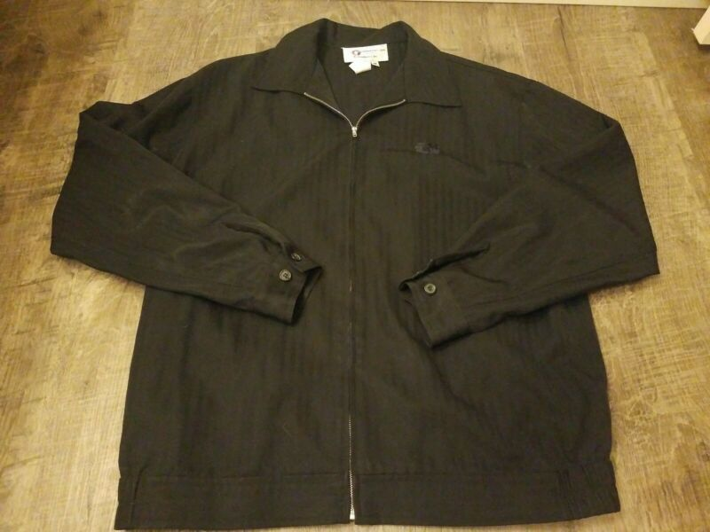 Vintaged 90s Hawaiian Airlines in flight crew classic black Jacket full zip sz m