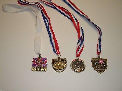 Gymnastics Metals - Lot of 4