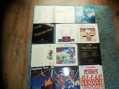 CLASSIC ROCK COLLECTION x 10  ALBUMS  -  LSO - VSO - RPO - DOUBLES - GATEFOLD