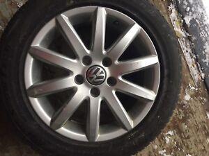 Mags Audi ou Volks avec pneus d'hiver