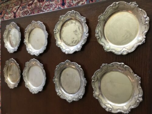 """Gorham Chantilly Sterling Silver set of 8 Bread Plates, 6"""""""