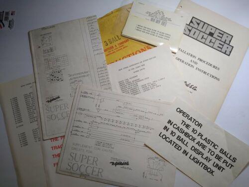 Gottlieb Super Soccer Pinball Machine Game Schematics & Manual Original 1975