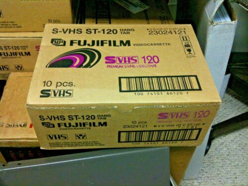 Fujifilm ST-120 SVHS Tapes Box of 10  DVHS, HD Movies, D-theater,Verified,ADAT