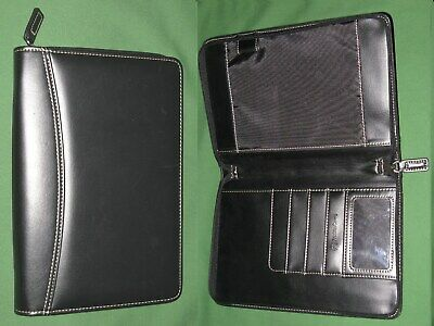 Classic Note Pad Black Faux Leather Franklin Covey Planner Binder Organizer
