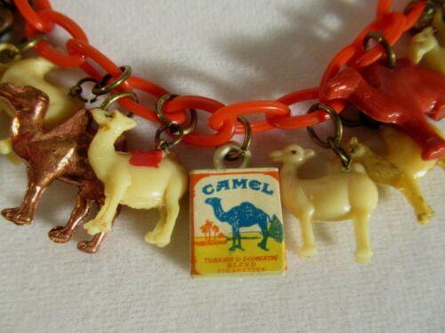 """VTG """"CAMEL CARAVAN"""" CRACKER JACK/GUMBALL CHARM BRACELET CAMEL CIGARETTES 1930-50"""