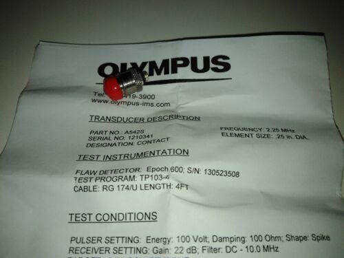 Ultrasound transducer Olympus Panametrics-NDT A542S-SM