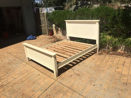 Queen bed frame and bedside tables Grays Point Sutherland Area Preview