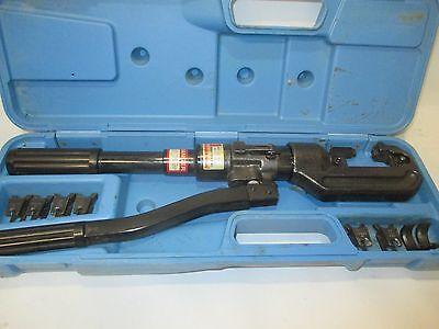 Huskie Cn-258 Hydraulic Hand Crimper With Case 4 Dies 71