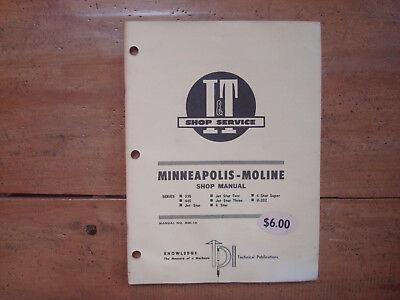 Minneapolis-moline 335 445 Jet Star 4-star U-302 Tractors It Shop Manual