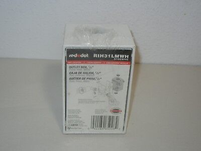 "RED DOT S100WHE OUTLET BOX 1/2"" THREE HOLE WHITE RIH31LM"