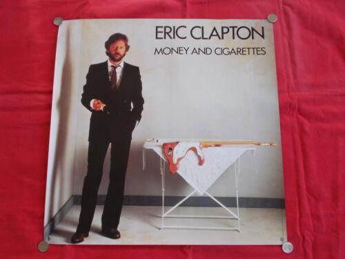 +++ 1983 ERIC CLAPTON Promotion Poster Money & Cigarettes