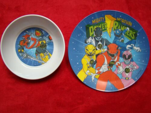 Vintage 1994 PMC Mighty Morphin Power Rangers Plate & Bowl Set
