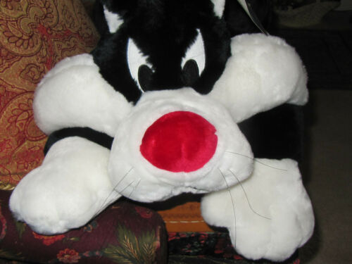 """NWT 2000 Warner Brothers Looney Tunes 32"""" Sylvester The Cat Plush Soft Cuddly"""