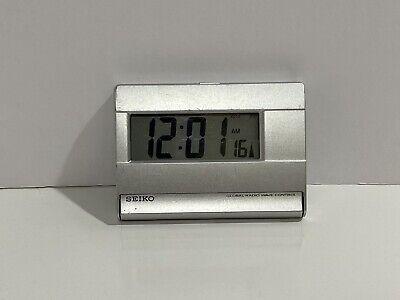 Seiko Global Radio Wave Control Clock Alarm QHR016 Works!