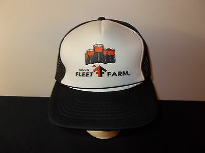 Vtg 1980S Mills Fleet Farm Duracell Batteries Mesh Trucker Snapback Hat Sku17