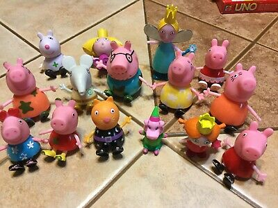 Peppa Pig Cake Toppers (Peppa Pig Dollhouse Figures Family Friends Assortment lot of 15 Cake)