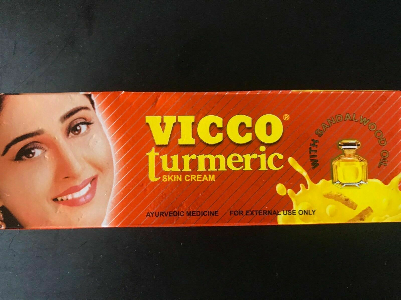 Vicco Turmeric Cream (Ayurvedische Haut-Creme mit Sandelholzöl) 50g Neu Verpackt