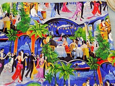 Cranston Print Works Two Yards, Flora Dora, Miami Party Theme  - Dora Party Theme