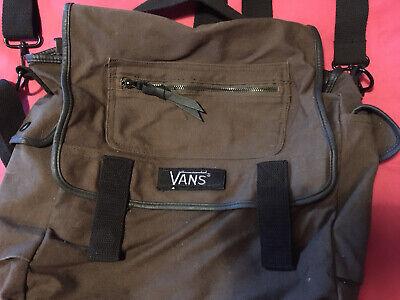 Vans Canvas Brown Bag Medium Sized Rucksack Hand Or Shoulder Bag