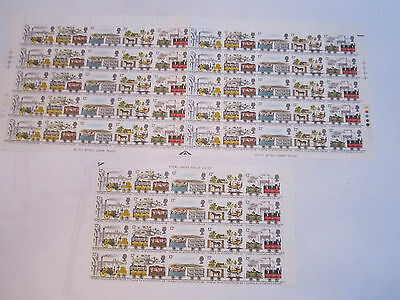 MINT (70) 1980 LIVERPOOL & MANCHESTER RAILWAY STAMP SHEET - 70 STAMPS TOTAL