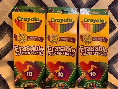 Crayola 10 Count Erasable Colored Pencils (Lot Of - Crayola Erasable Colored Pencils