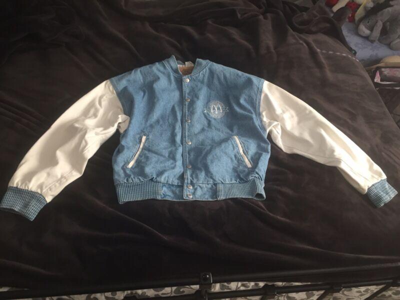 Vintage McDonalds Ladies Promotional Denim Jacket Size S Excellent Condition