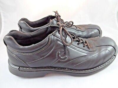 ECCO Mens Black Leather Oxfords Comfort Shoes Lace Up Sz 12 EUR 45 Euro Style