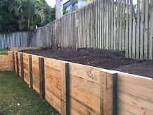 TIMBER RETAINING WALLS POOL & TIMBER FENCING HOME IMPROVEMENTS Springfield Ipswich City Preview