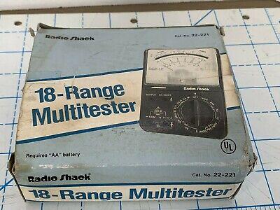 Vintage Radio Shack Multimeter 18-range Multitester Acdc Ohms No. 22-218