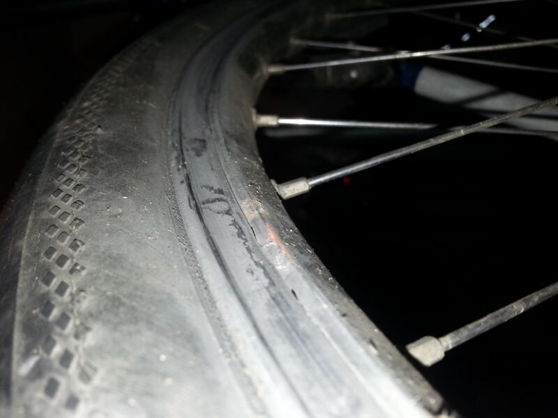 It's not just brake pads that wear out, rims can too.