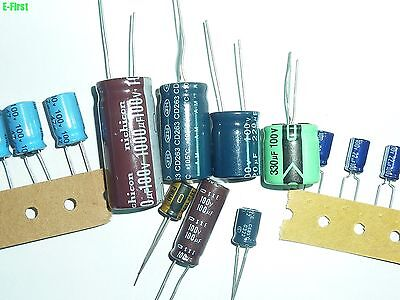 9value 59pcs 100v Radial Electrolytic Capacitor Assortment Kit All Brand